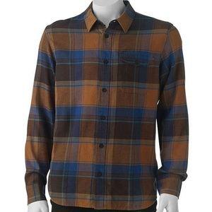 Vans Mens Shirt Button-Down Plaid Flannel Small